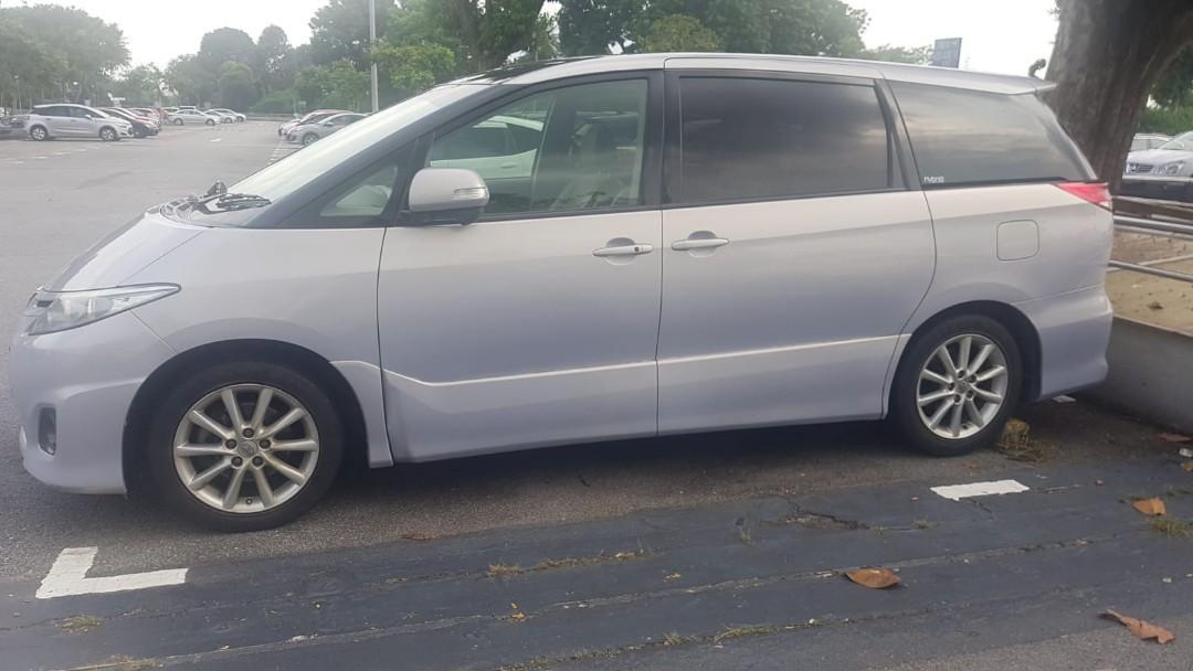 Toyota Estima for short/long term rental. Contact us at 88115335/90998833