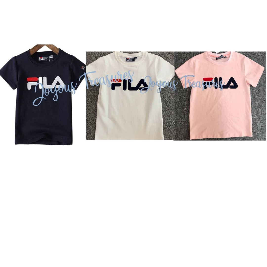 3b14fda9b587 Unisex Boys/Girls Kids Children Fila Premium Cotton T Shirt Tee Shirt,  Babies & Kids, Boys' Apparel, 4 to 7 Years on Carousell