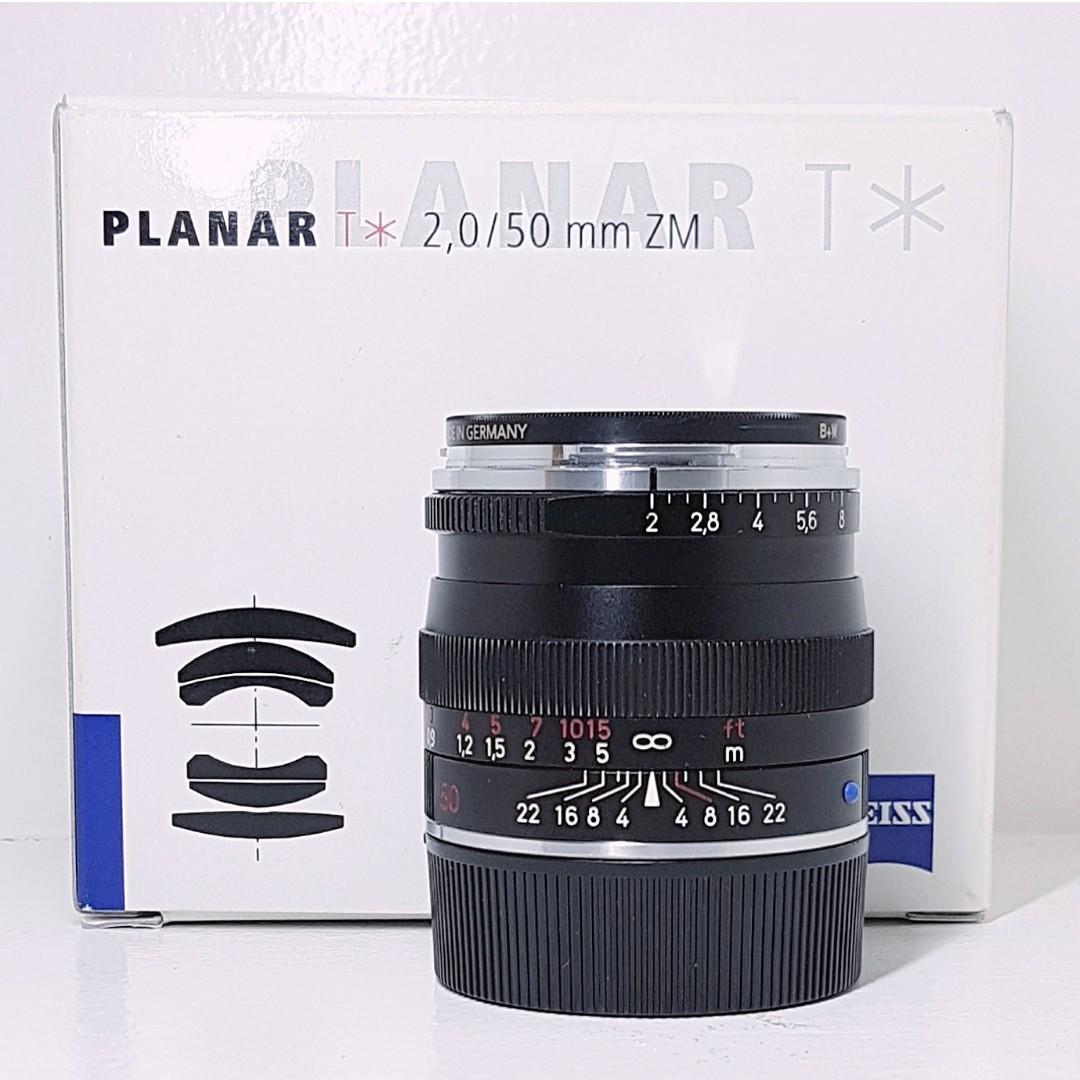 Zeiss 50mm f2 Planar ZM Leica M mount lens fits Voigtlander