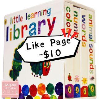 ‼️Like Page再減$10‼️ The Very Hungry Caterpillar: Little Learning Library 👶🏻 好餓的毛毛蟲 Eric Carle系列書