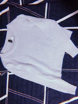H&M Powder Blue Knit Crop Sweater / Pullover