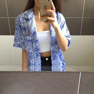 Exclusive Cabernet Blue Printed Shirt