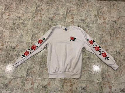 H&M Rose Sweatshirt