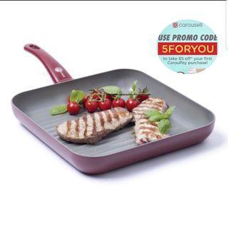 🚚 28cm Ceramic Non-stick Grill Pan #AmplifyJuly35