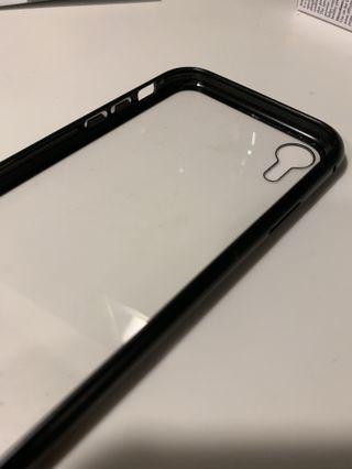 99%新 玻璃黑框包邊iPhone XR殻