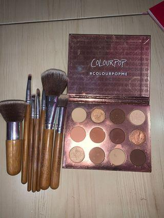 brush set + colourpop eyeshadow
