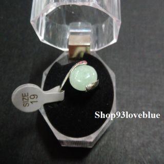 (大特價$55)天然東陵玉戒指 : 戒面約1.1cm,長1.3cm指圈19號。  (請留意折扣優惠)