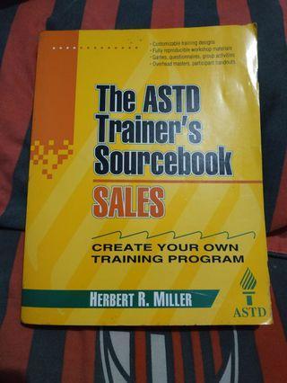 Sales: The ASTD Trainer's Sourcebook Herbert R. Miller   (buku) - BOLEH NEGO GUYS😁