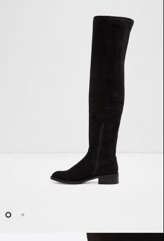 Black Aldo Thigh High Boots