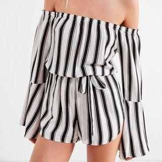 Silence + Noise Striped Romper