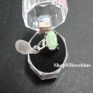 (大特價$55)天然東陵玉戒指 : 戒面約1.1cm,長1.3cm指圈20號。  (請留意折扣優惠)