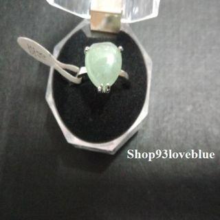 (大特價$55)天然東陵玉心形戒指 : 戒面約1.2cm,長1.2cm指圈18號。  (請留意折扣優惠)