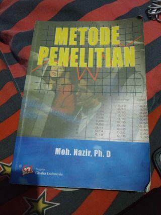 buku metode penelitian Moh. Nazir, penerbit Ghalia Indonesia