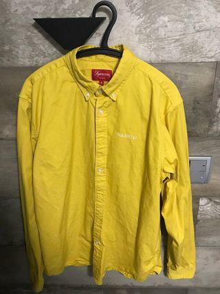 supreme shirt yellow