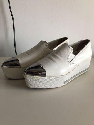 Miu Miu Metal toe platform sneaker