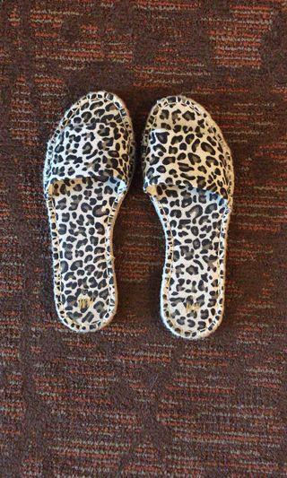 Leopard Print Sandal Slides