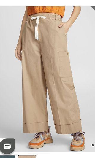Wide Leg Tan Pants
