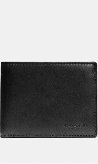 *Reduced Price*Coach Double Billfold ID Wallet