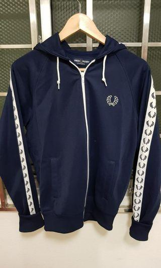 Authentic Fred Perry Taped Track Jacket in blue