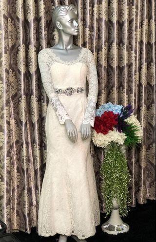 (FREE POS)Elegant White Dress