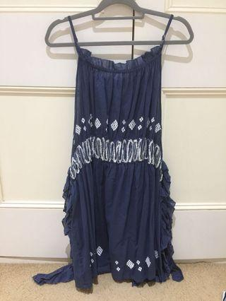 Cotton pinafore style dress