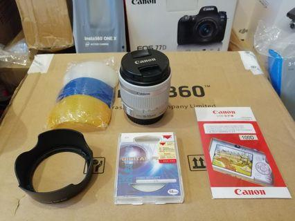 Canon 18 - 55mm STM Lens for Canon 100D 200D 800D 80D 77D free EW-63C Hood kenko UV fillter screen protector flash diffuser