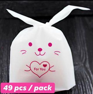 Cute Long Ear Bunny goodies plastic bag