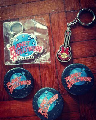Hard Rock & Planet Hollywood Keychains