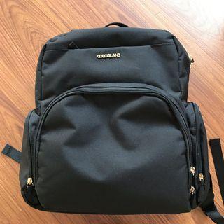 Colorland diaper/ pump bag (backpack)