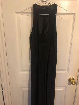 Club Monaco black silk maxi dress