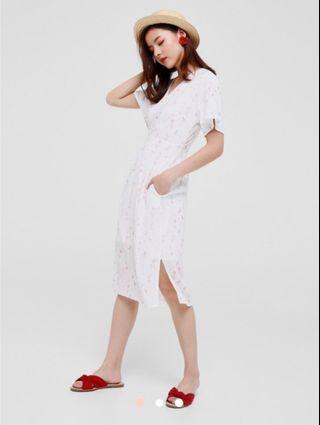 *BNWT* Love Bonito Angeline Printed Flutter Sleeve Dress