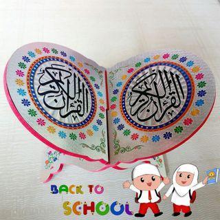 rekal.meja Qur'an silver