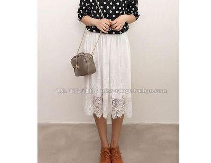 Size 6-8 white lace skirt