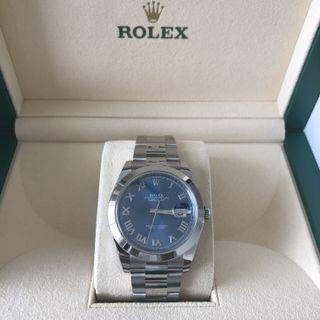 🚚 Rolex Stainless Steel Datejust 41 Blue