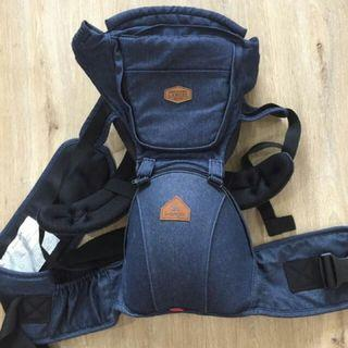 I-Angel Hipseat Baby Carrier Denim Paisley with Sleeping Hood