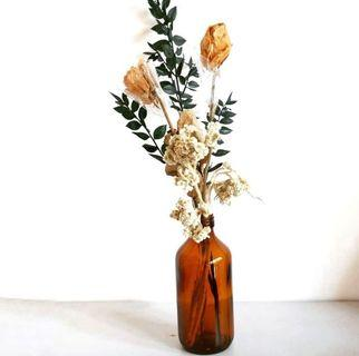 Vas Bunga botol coklat (tidak termasuk bunga)