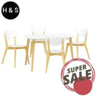 FREE DELIVERY Arthur 1.2m Dining Table + 4 Dining Chair. (1+4) Quality Dining Set