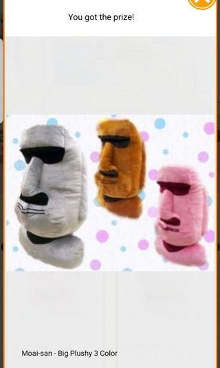 Moai-San Plush (Dumdum give me Gumgum)