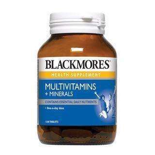 🚚 Blackmores Multivitamins + Minerals 120 tabs
