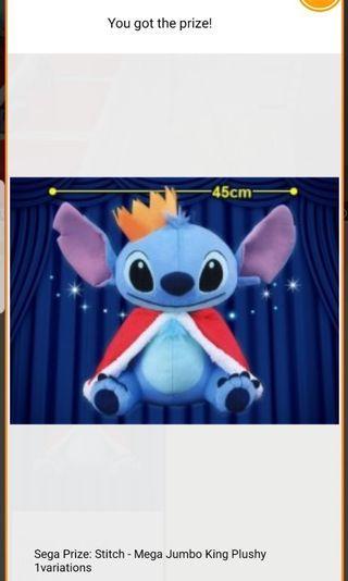 Stitch King Outfit Plush