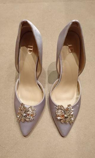 Wedding shoes 銀色 高跟鞋 高踭鞋 晚裝鞋 婚紗鞋 結婚鞋 pre-wedding shoes