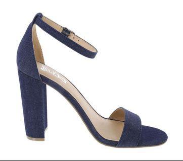 denim heels brash by payless