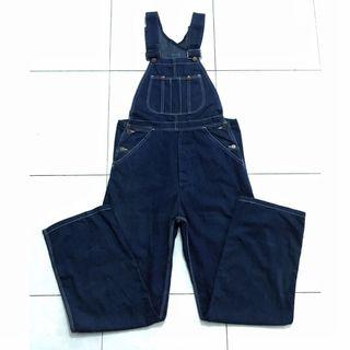VINTAGE KING JACKSON DENIM SELVEDGE OVERALL /JUMPER/COVERALL JEANS 60's 70's WORKWEAR SCOVILL BUTTON  SUPER RARE