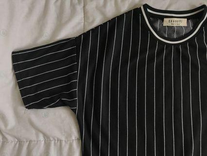 bn striped b&w top