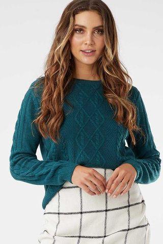 emerald green knit