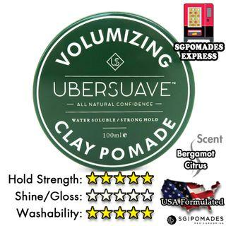 Ubersuave Volumizing Clay Pomade 100ml - SG Pomades Mens Grooming