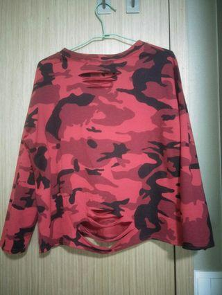 Long Sleeve Top (red army)