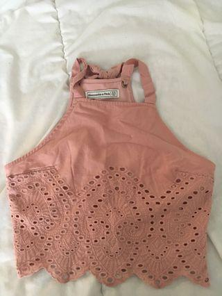ABERCROMBIE pink top
