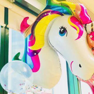 Colorful Unicorn Foil Balloon