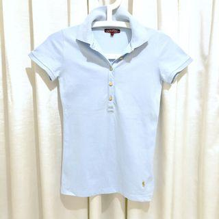 🚚 Sacoor Brother Slim Fitted Polo Tee, Baby Blue